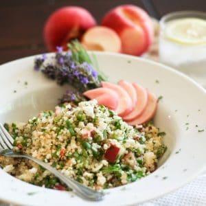Lavender Peach Quinoa Salad