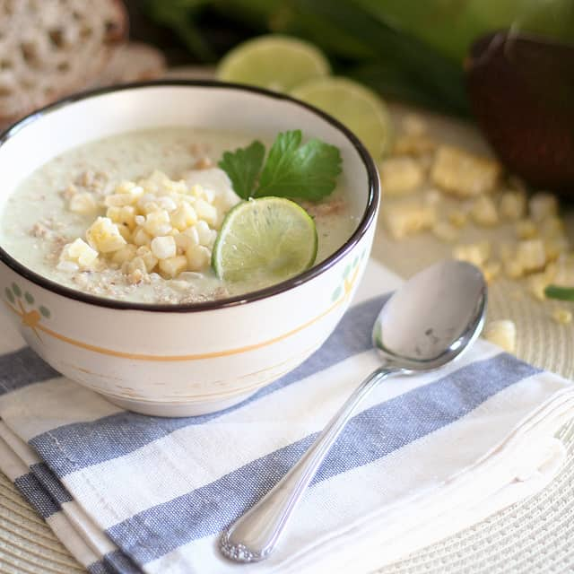 Quick Raw Corn Chowder | by Sonia! The Healthy Foodie