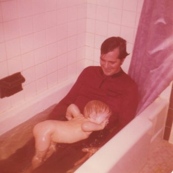 Me and my dad taking a bath