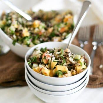 Mango Cucumber Rice Salad