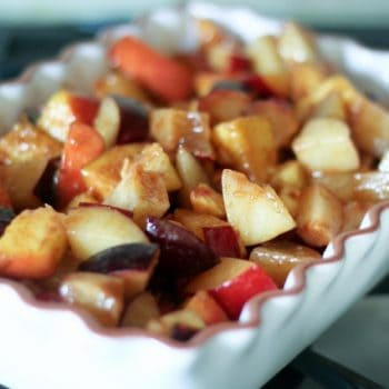 Healthy As Can Be Peaches and Plums Cobbler