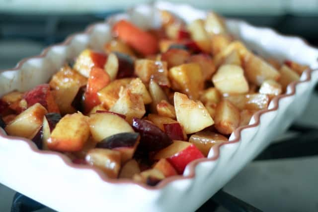 Peaches and Plum Cobbler-1