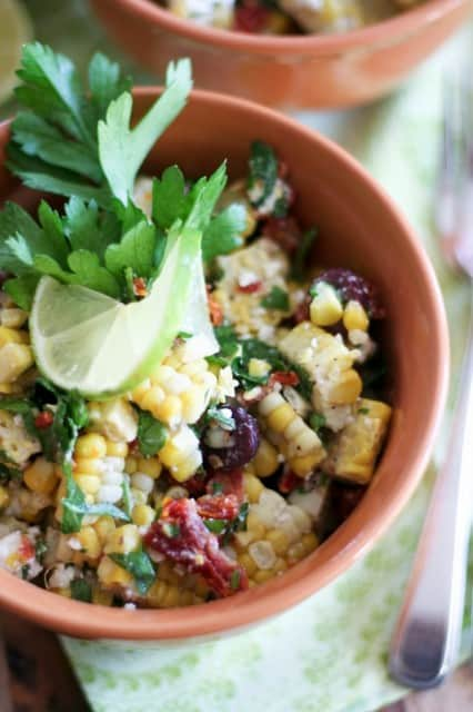 Oven Roasted Corn Salad - The Healthy Foodie