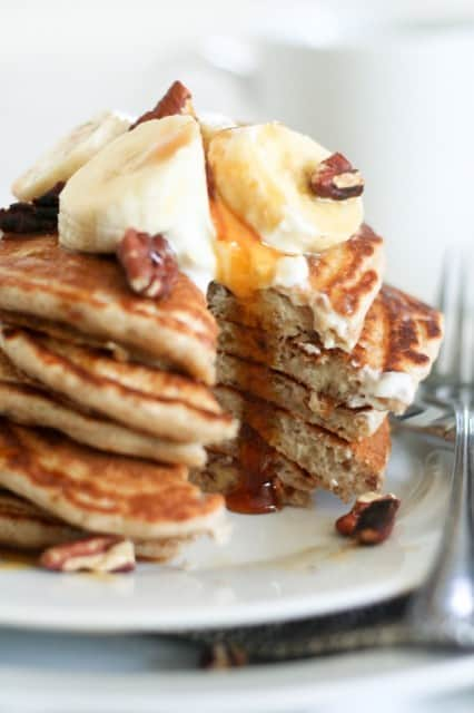 Banana-Buttermilk Pancakes Recipe — Dishmaps