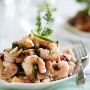 Super Quick and Easy Cold Shrimp Salad
