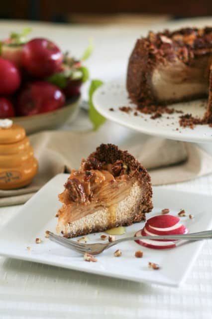 Healthy Apple Pecan and Honey Caramel Cheesecake | by Sonia! The Healthy Foodie