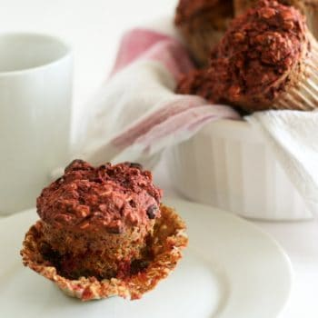 Beet Oatmeal Muffins