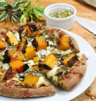 Grilled Butternut Squash and Caramelized Onions Pizza