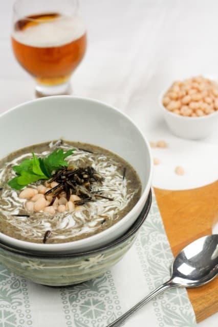 Creamy Navy Bean, Mushroom And Wild Rice Soup Recipe ...