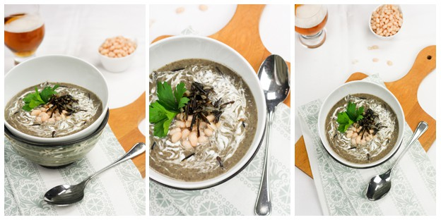 this soup creamy wild rice mushroom wild mushroom and white bean ...