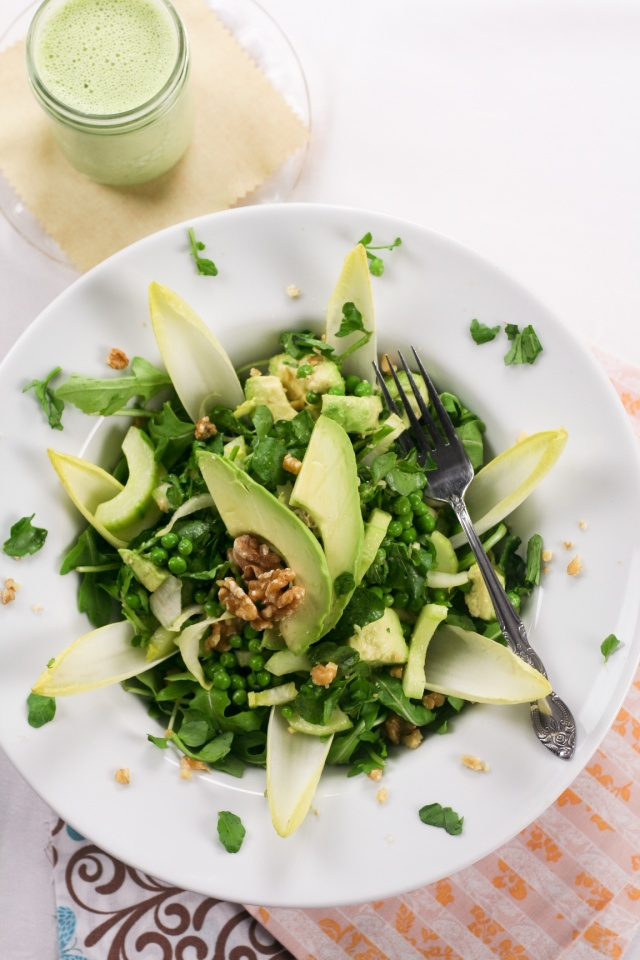 Lean Mean Green... Pea Salad (and creamy cucumber dressing ...