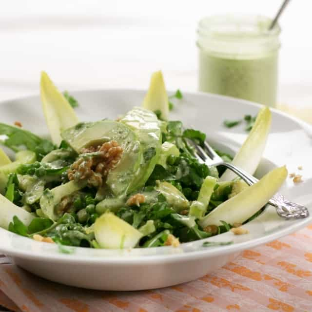 Lean Mean Green Pea Salad (and Creamy Cucumber Dressing ...