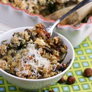 Mushroom Spinach Brown Rice Casserole | by Sonia! The Healthy Foodie