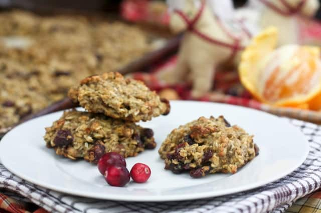 Healthy Oatmeal Cookies in Orange Cranberry • The Healthy Foodie