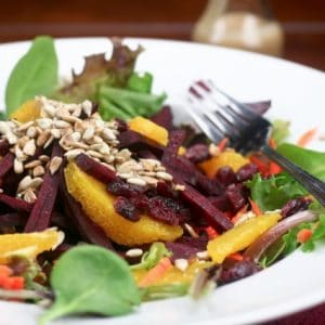 Raw Beet, Carrot and Orange Salad