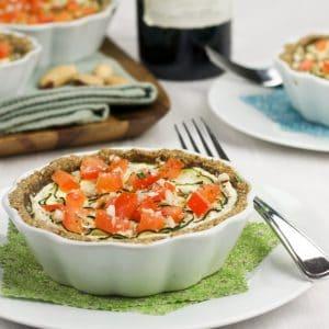 """Zucchini, Tomato and """"Ricotta"""" Tartelettes"""