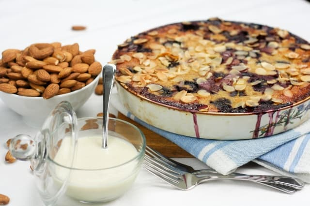 """Cherry Almond Clafoutis with faux """"Crème Anglaise"""" • The Healthy ..."""