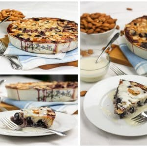 """Cherry Almond Clafoutis with faux """"Crème Anglaise"""""""