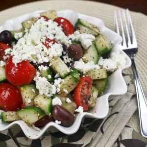 Super Quick Greek Style Salad