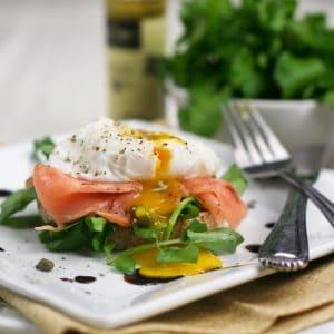 Eggs Hemingway, sans Hollandaise… with extra greens, please!