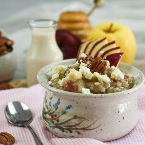 Apple, Raisin and Goat Cheese Oatmeal