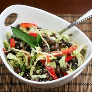 Black Soy Bean and Napa Cabbage Salad