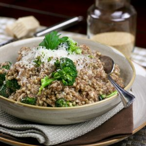 "Lent is just around the corner… Going grain-free! Oh, and Creamy Buckwheat ""Risotto"" Style"