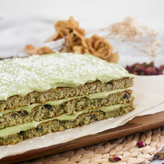 Heavenly Healthy Matcha Green Tea Cake • The Healthy Foodie