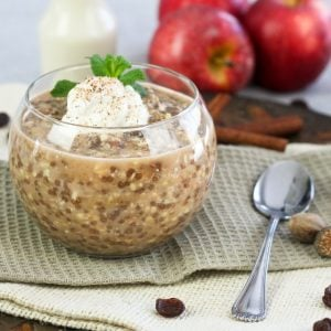 Raisin Cinnamon Wheat Berry Overnight Oats