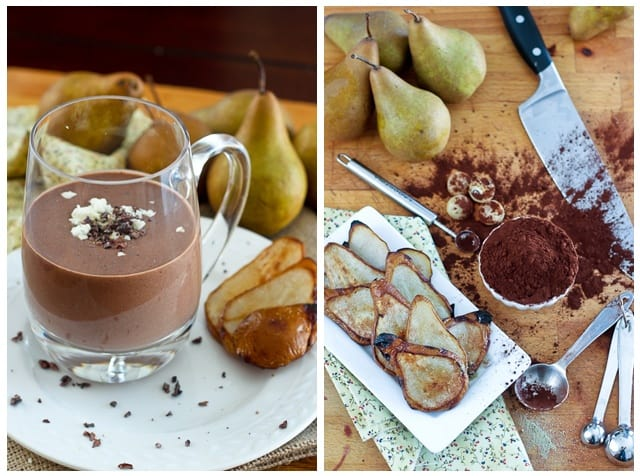 Caramelized Pears Chocolate Goat Cheese Smoothie | by Sonia! The Healthy Foodie