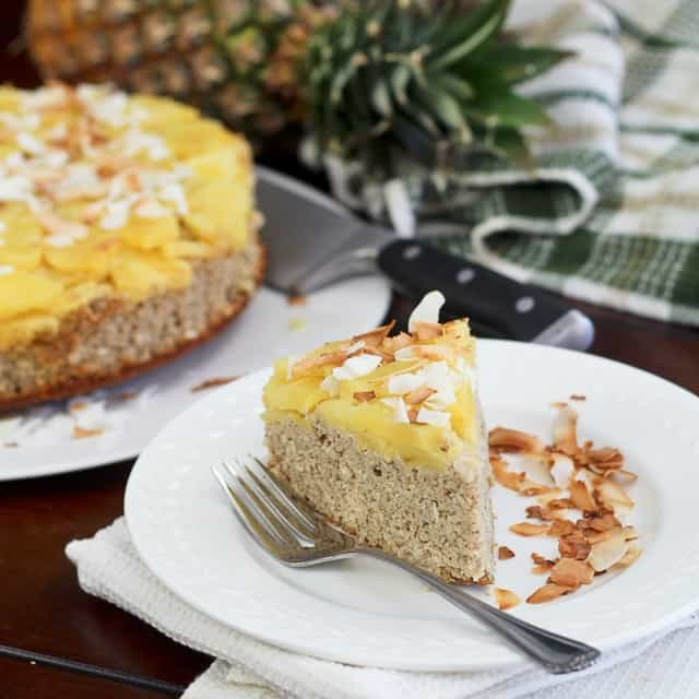 Upside Down Pineapple [Breakfast] Cake • The Healthy Foodie