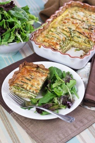 Asparagus, Morel And Ramp Quiche With A Brown Rice Crust Recipe ...