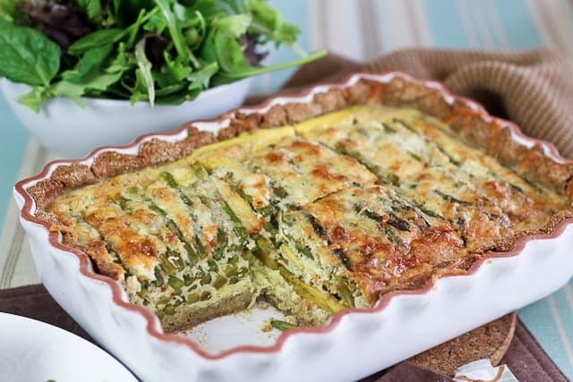 Kristine S Kitchen Asparagus And Goat Cheese Quiche
