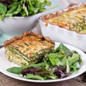 Asparagus and Cheese Quiche - Grain Free