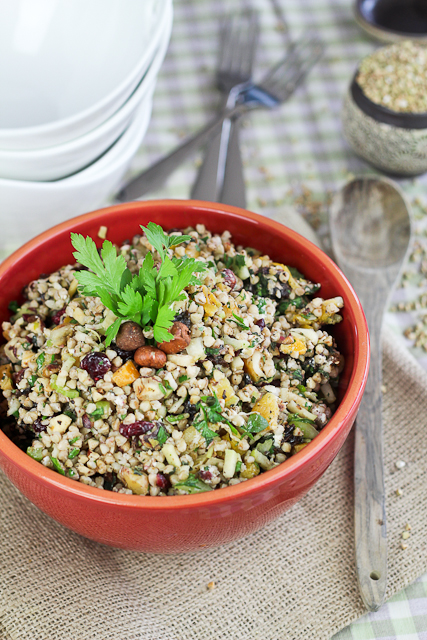 Dried Fruit and Goat Cheese Buckwheat Salad