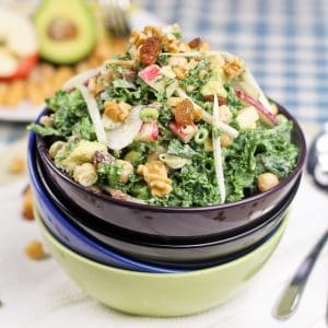 Kale, Chickpea and Apple Salad