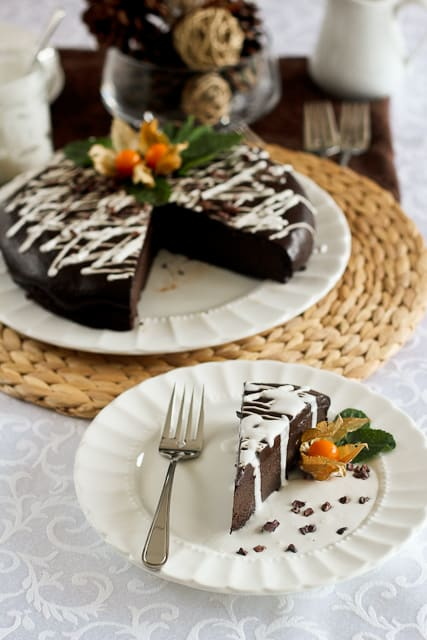 Flourless No Dairy Chocolate Cake