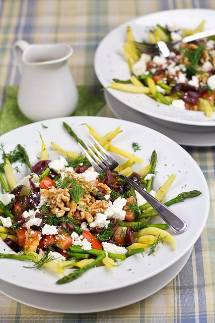 Wax Beans and Asparagus Salad - The Healthy Foodie
