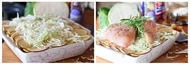 Apple And Cabbage Oven Baked Chicken Recipe — Dishmaps