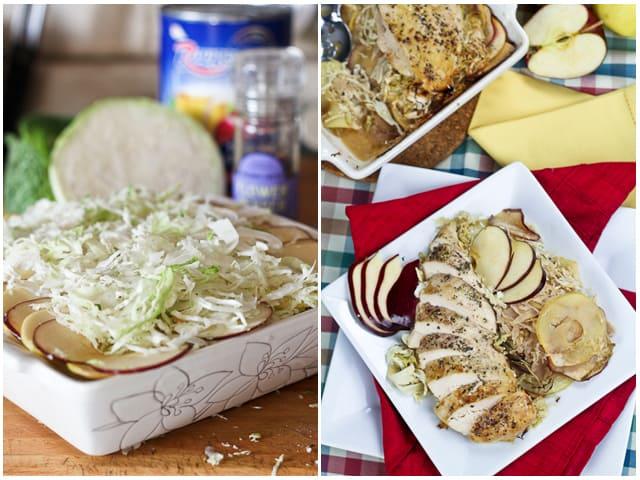 Cabbage Apple Chicken