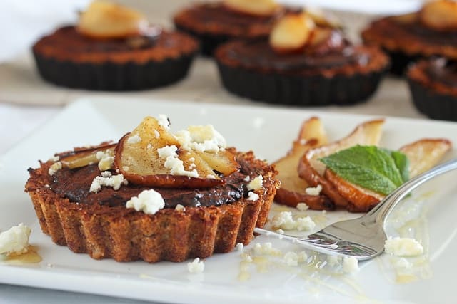 ... Pears, Goat Cheese and Chocolate Tartlets - The Healthy Foodie