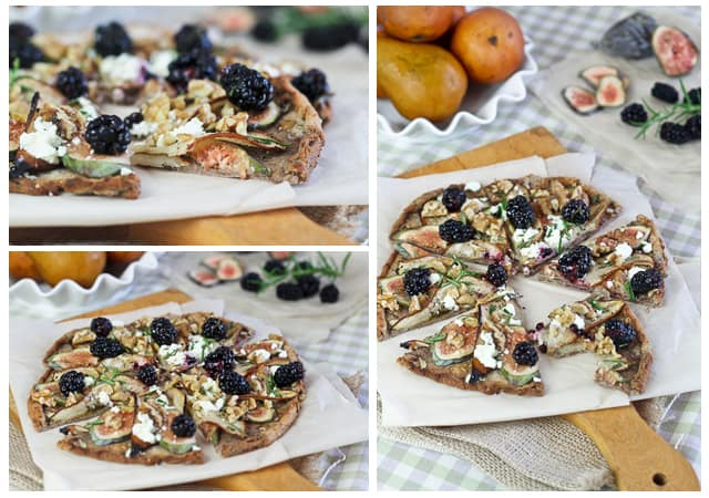 Grain Free Bosc Pear, Fresh Figs and Goat Cheese Pizza • The Healthy ...