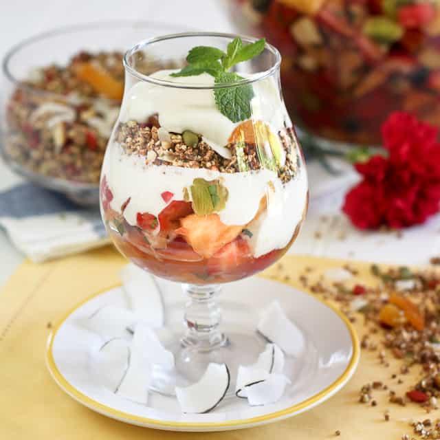 "Grain Free Granola And Fruit Salad - A ""Parfait"" Combination Recipe..."