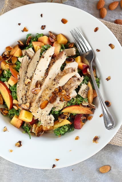 Kale, Chicken and Peaches Salad