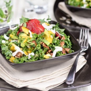 Kale Salad with a Tropical Twist