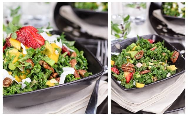 Tropical Mango, Banana, & Pineapple Kale Salad With Creamy ...