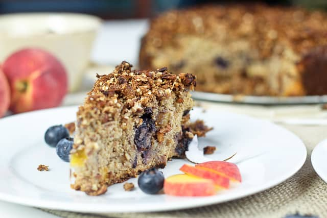 Peaches and Blueberry Coffee Cake