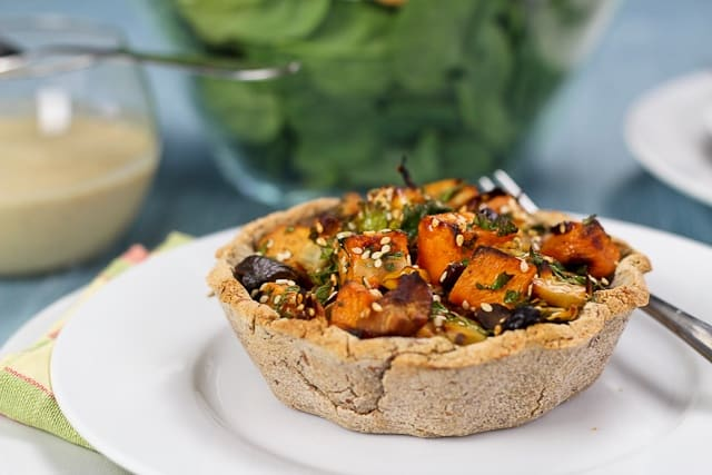 Rustic Sweet Potato, Apple and Chestnut Tartlets - The Healthy Foodie