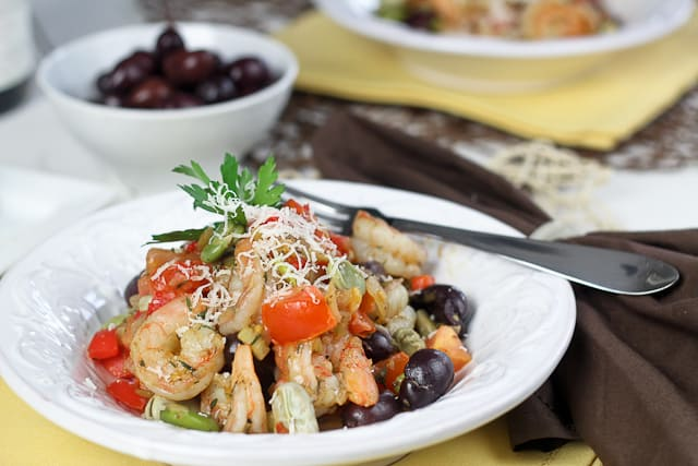 Shrimp and Fava Beans with Tomatoes and Kalamata Olives - The Healthy ...