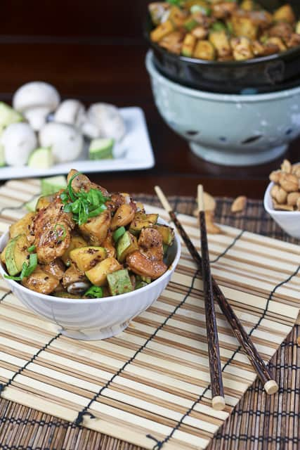 Zucchini, Mushroom and Cashew Chicken